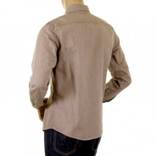 ARMANI JEANS Dark Putty long sleeve shirt