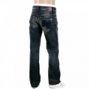 ARMANI JEANS Dark Stonewash Regular Fit Low Waist Straight Leg Denim Jeans