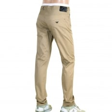 Extra Slim Fit J10 Beige Lightweight Stretch Cotton Jeans with Low Waist Tight Leg and Zip Fly