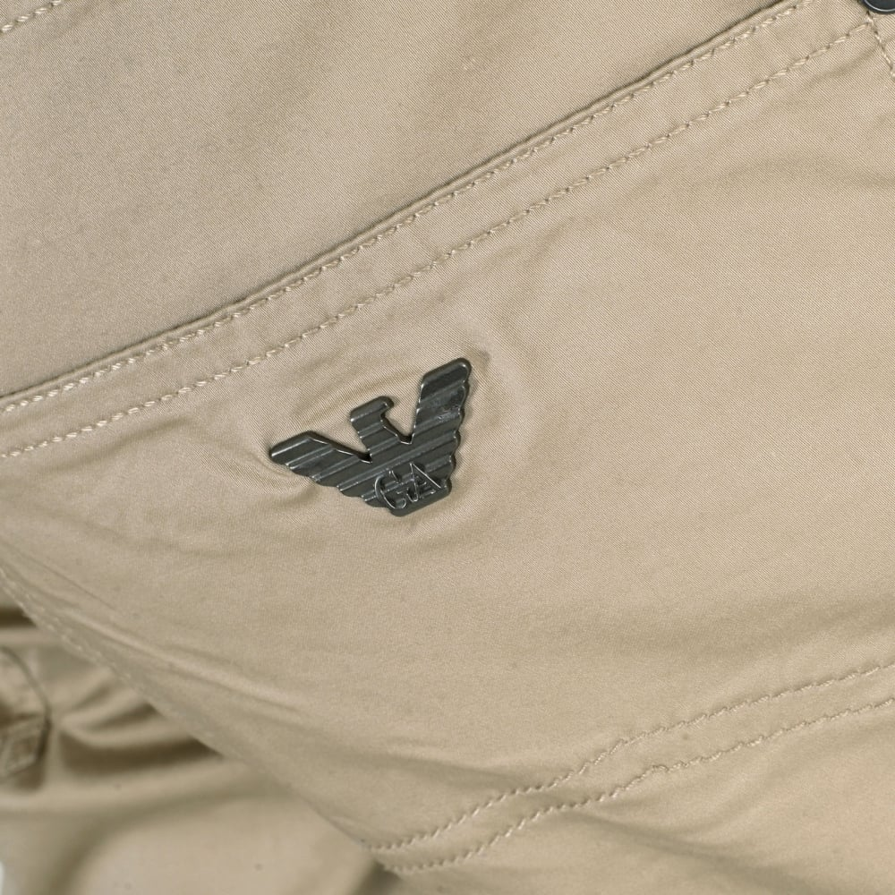 d17fd94c985d ... ARMANI JEANS Extra Slim Fit J10 Beige Lightweight Stretch Cotton Jeans  with Low Waist Tight Leg ...