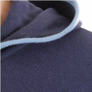 ARMANI JEANS Fitted Long Sleeve Zipped Hoody in Blue