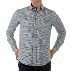 Green multi check Long Sleeve Shirt