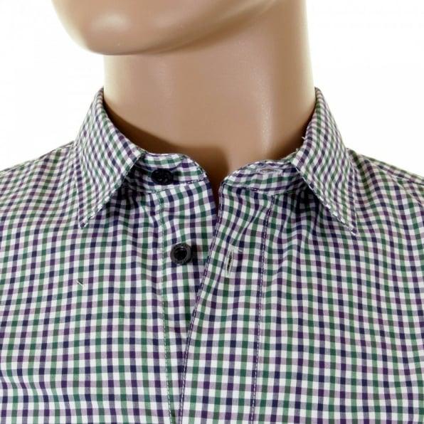 ARMANI JEANS Green multi check Long Sleeve Shirt