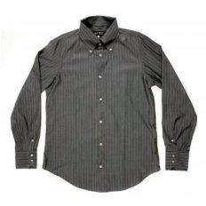 Grey Button Down Collar Regular Fit Long Sleeve Shirt