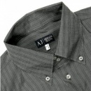 ARMANI JEANS Grey Button Down Collar Regular Fit Long Sleeve Shirt