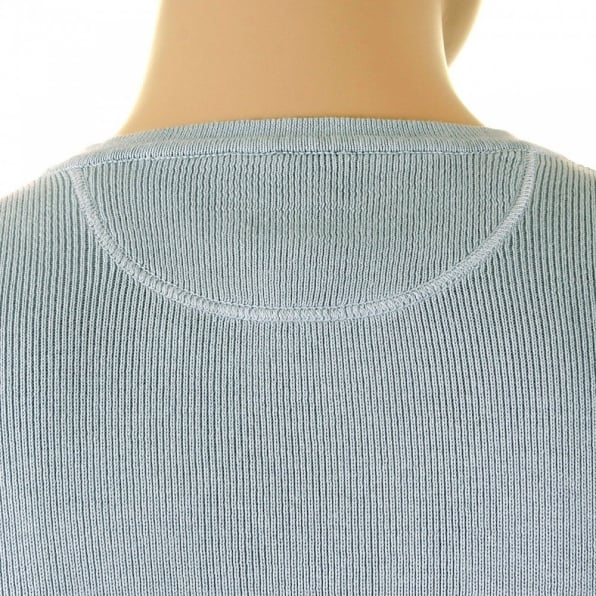 ARMANI JEANS Grey Long Sleeve Slim Fitting Knitwear Jumper