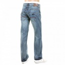 ARMANI JEANS Light Stonewash Regular Fit Low Waist Straight Leg Denim Jeans
