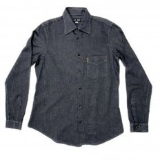 Long Sleeve Navy Soft Collar Regular Fit Shirt