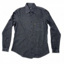 ARMANI JEANS Long Sleeve Navy Soft Collar Regular Fit Shirt