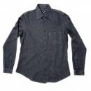 ARMANI JEANS Long Sleeve Navy Soft Collar Regular Fit Shirt