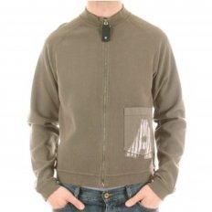 Long Sleeve printed slim fit zipped sweatshirt