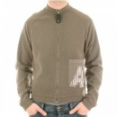 ARMANI JEANS Long Sleeve printed slim fit zipped sweatshirt