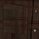 ARMANI JEANS Long Sleeve Regular Fit Brown Tartan Style Check Shirt