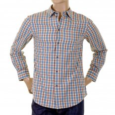 Long sleeve regular fit woven check shirt.