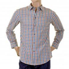 Long sleeve regular fit woven check shirt.