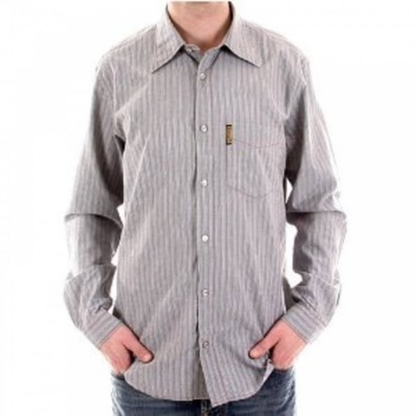ARMANI JEANS Long Sleeve Striped Grey Shirt