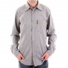 Long Sleeve Striped Grey Shirt
