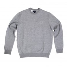 Armani Jeans Marl Grey Regular Fit Crew Neck Sweatshirt for Men with AJ Eagle Chest Logo AJM6460