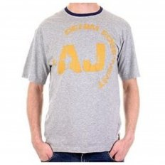Marl Grey Regular Fit Ribbed Crew Neck Short Sleeve T-Shirt