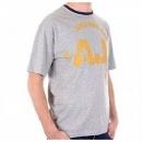 ARMANI JEANS Marl Grey Regular Fit Ribbed Crew Neck Short Sleeve T-Shirt