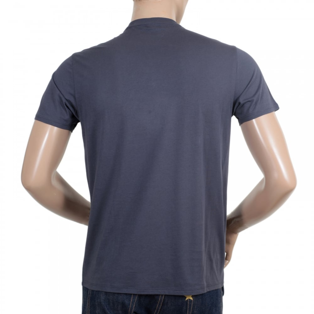 9ac7867b ... ARMANI JEANS Mens Classic Fit Crew Neck Cotton Made Short Sleeve Black  T Shirt with Eagle ...