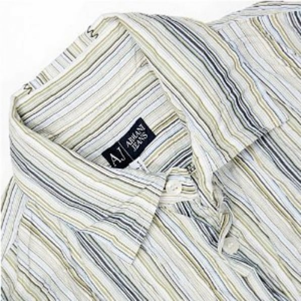ARMANI JEANS Mens Designer Long Sleeve Shirt