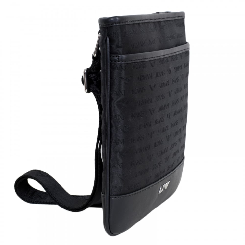 Simple And Stylish Black Despatch Bag By Armani Jeans