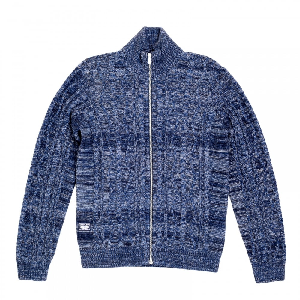 5a97acdd6826 ARMANI JEANS Mens Knitted Full Sleeve Cotton and Wool Mix High Neck Full  Sleeve Blue Zip ...