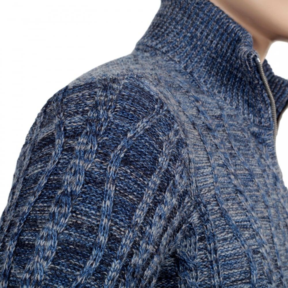 tukku verkossa urheilukengät katsella Best Mens Zip Up Knitted Jumper in Blue from Armani Jeans