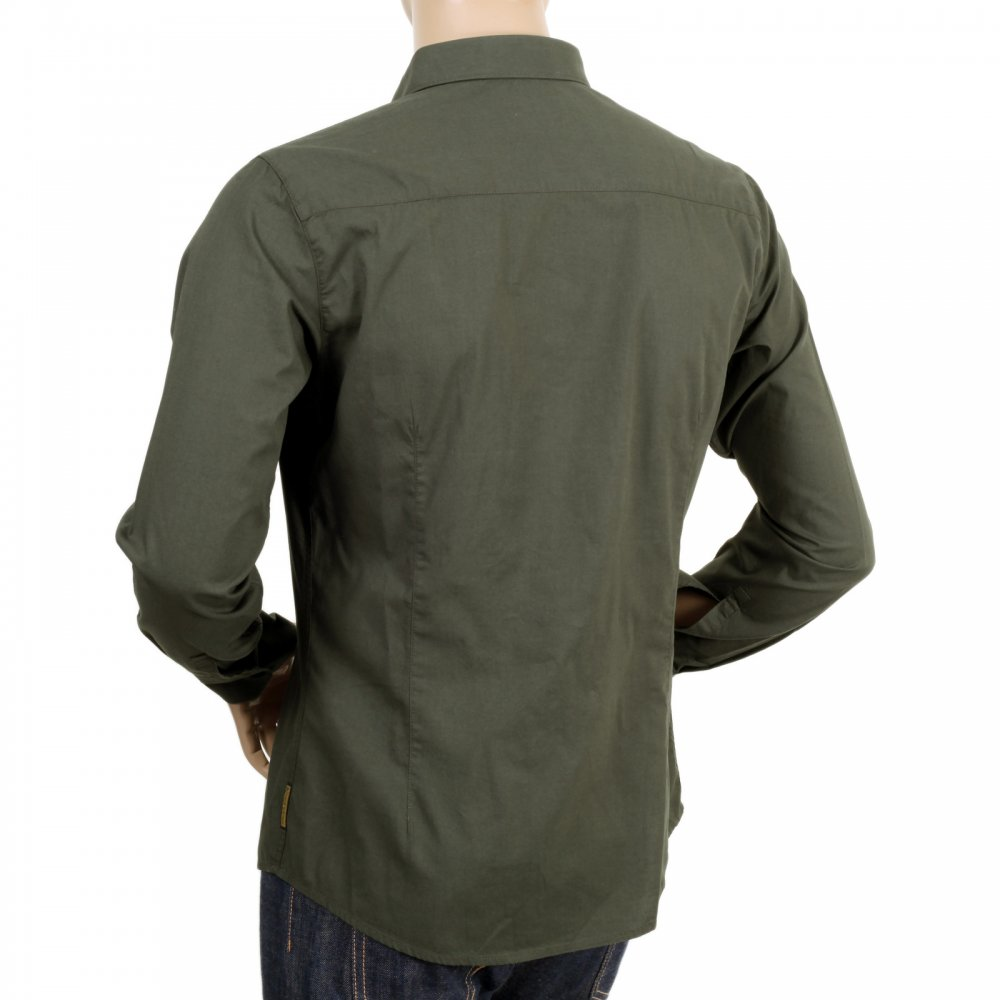 Buy Cotton Made Long Sleeve Armani Jeans Shirt In Green