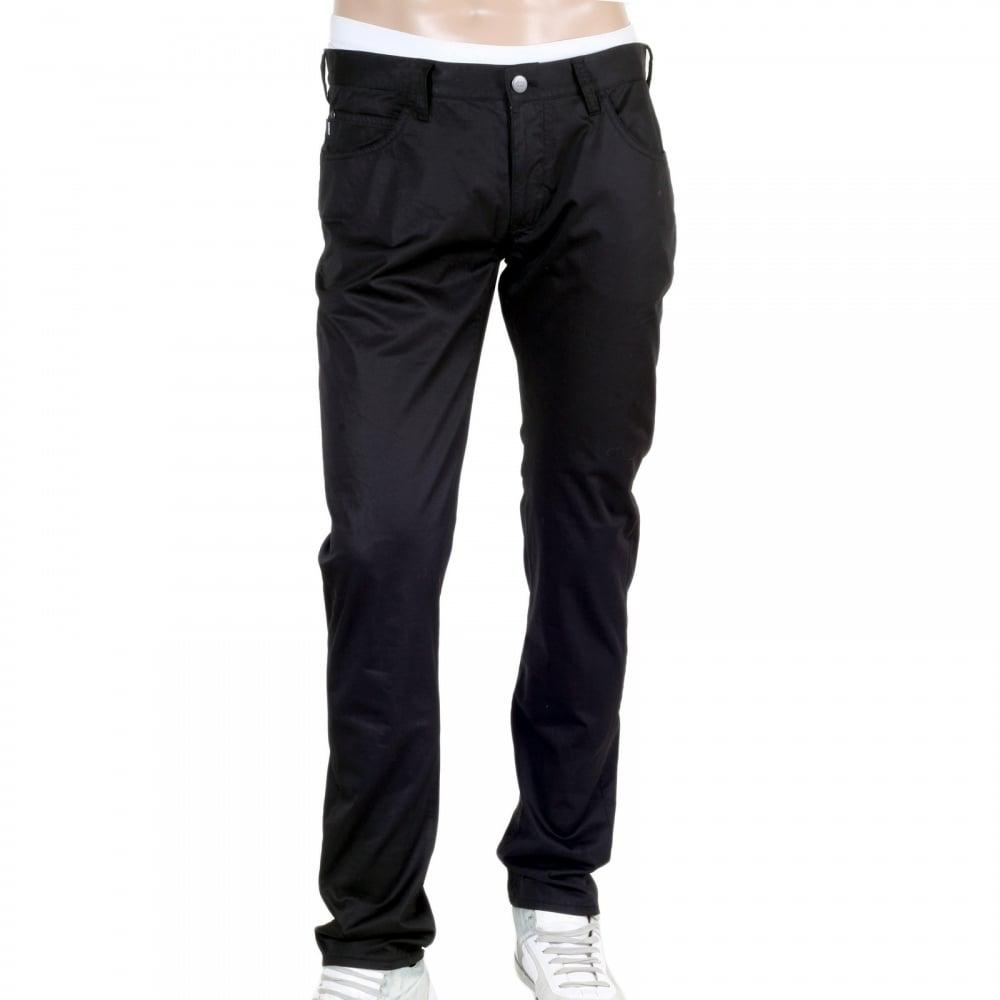 e0387af61b31 ARMANI JEANS Mens Low Waist Tight Leg Cotton Stretch J10 Extra Slim Fit  Black Jeans