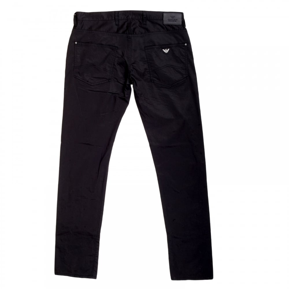 Mens J10 Extra Slim Fit Jeans in Black by Armani Jeans
