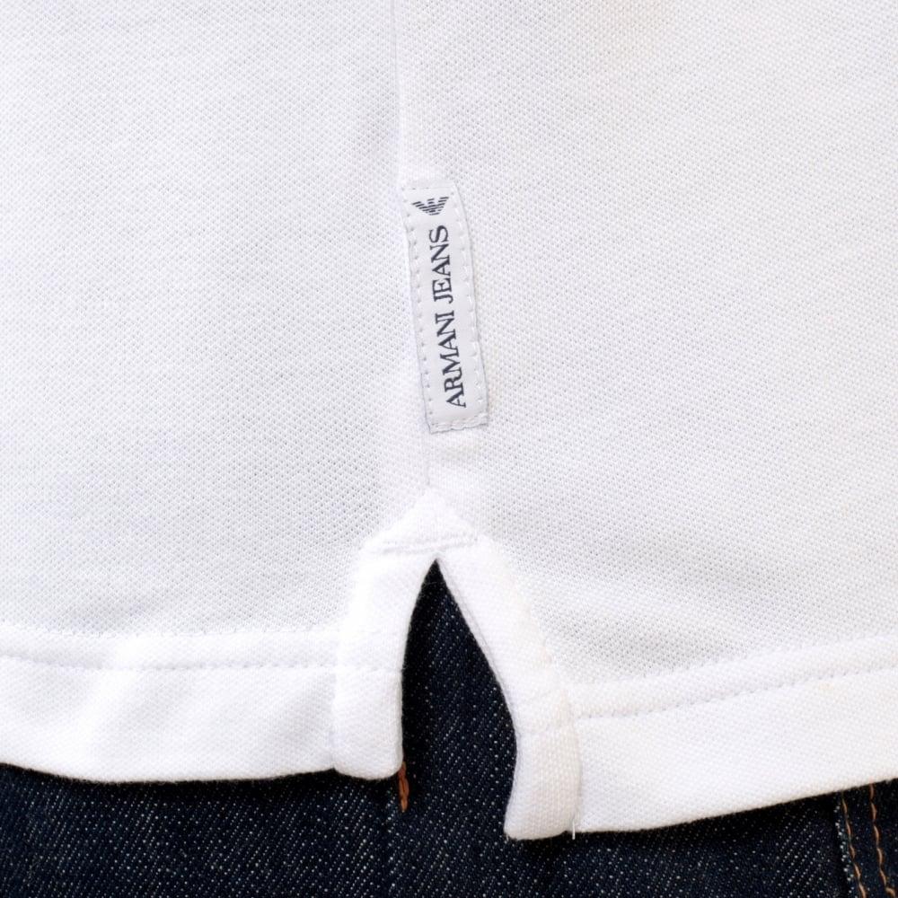 armani jeans white polo