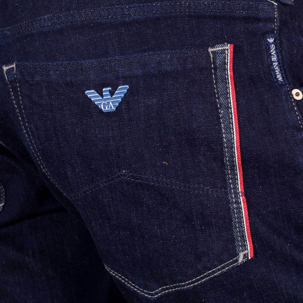 Indigo Denim Slim Fit Jeans for Men by Armani Jeans