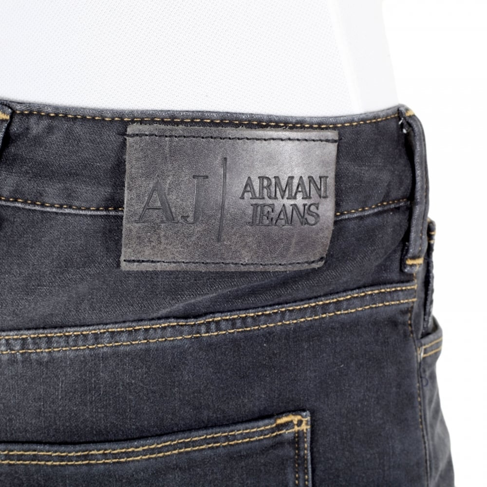 Slim Fit Low Rise Black Jeans for Men by Armani Jeans