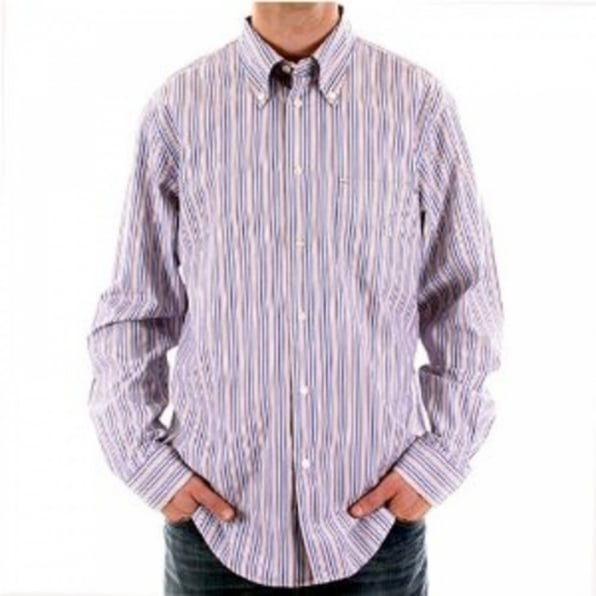 ARMANI JEANS Multicolour Striped Long Sleeve Regular Fit Shirt