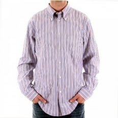 Multicolour Striped Long Sleeve Regular Fit Shirt