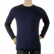 Navy Blue Long Sleeve Slim Fitting Knitwear Jumper