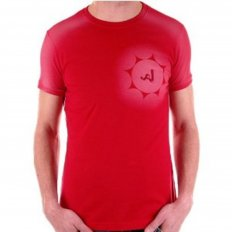 Red Crew Neck Short Sleeve Slim Fit T-Shirt