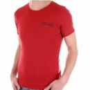 ARMANI JEANS Red crew neck slim fit short sleeve t-shirt