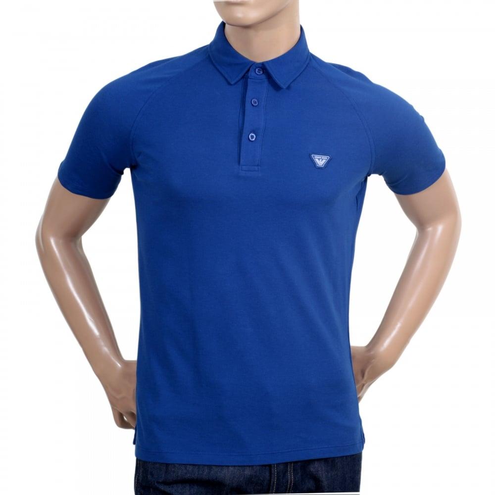 blue armani polo