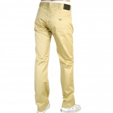 Regular Fit Regular Waist Button Fly Biscuit Coloured Jeans