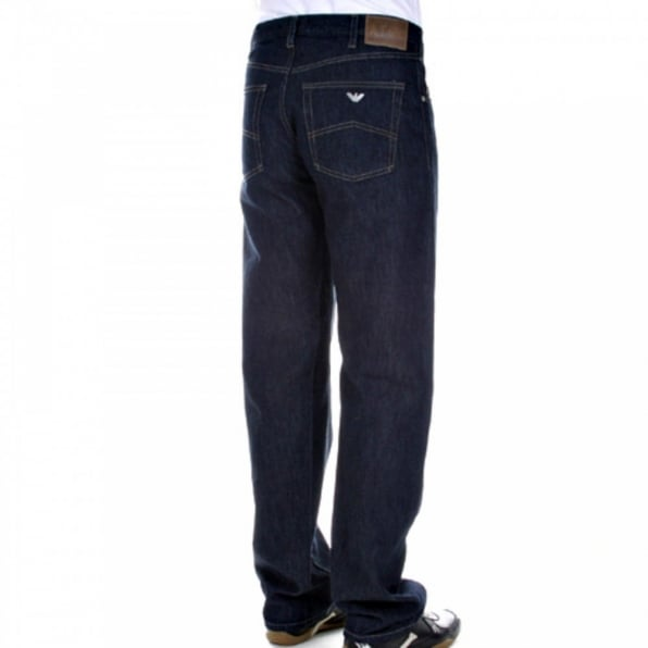 ARMANI JEANS Relaxed straight leg Dark indigo jeans