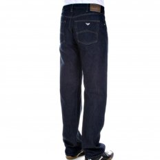 Relaxed straight leg Dark indigo jeans