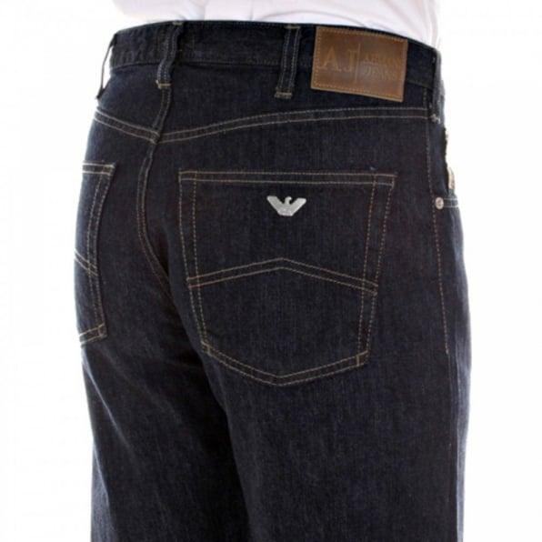 ARMANI JEANS Relaxed straight leg Dark indigo jeans