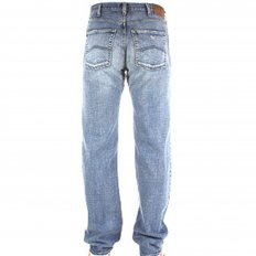 Sandblast Relaxed Fit Straight Leg Regular Waist Denim Jeans