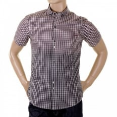 Short Sleeve cotton check shirt