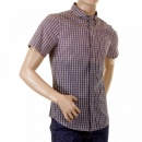 ARMANI JEANS Short Sleeve cotton check shirt