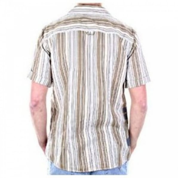 ARMANI JEANS Short Sleeve Striped Mens Shirt