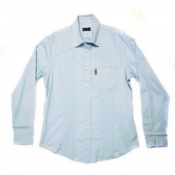 ARMANI JEANS Sky Blue Regular Fit Long Sleeve Shirt